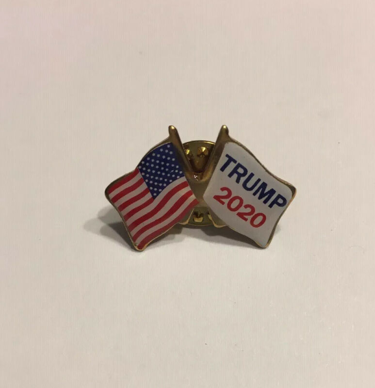 Support President Donald Trump Lapel Pin 2020 American Flag