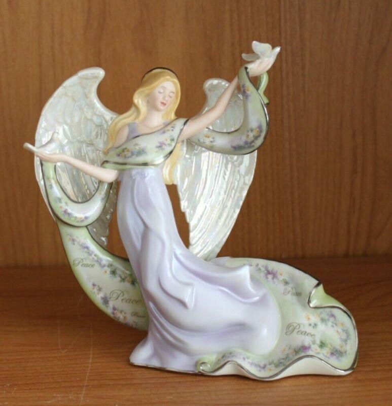 "Lena Lui Angel ""Inspirations of Peace"" musical figurine- 2007 Bradford Exchange"