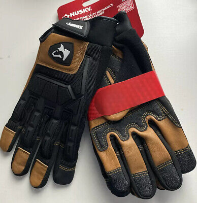 Husky Heavy Duty Goat Leather Gloves 2-pack L Size Touchscreen Compatible