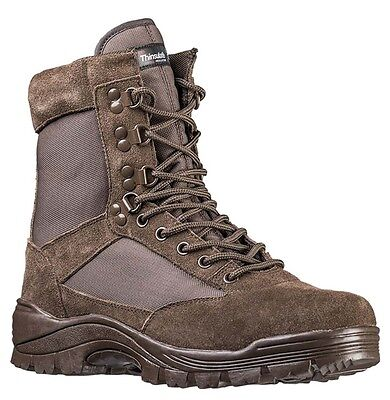 Tactical Boots m. YKK Zipper braun, Camping, Outdoor, Military -NEU- Tactical Military Boots