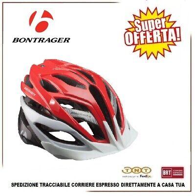 Casco Bici BONTRAGER Specter Ciclismo Bicicleta MTB Carreras Talla S Blanco Rojo