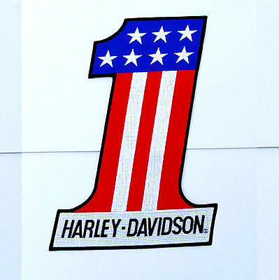 EXTRA LARGE Harley Davidson American #1 Patch