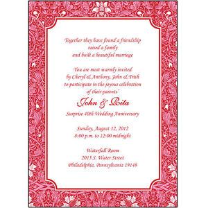 Anniversary Invites for luxury invitations example