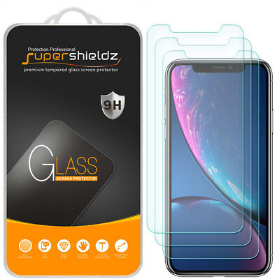 "3X Supershieldz Tempered Glass Screen Protector Saver for Apple iPhone XR (6.1"")"