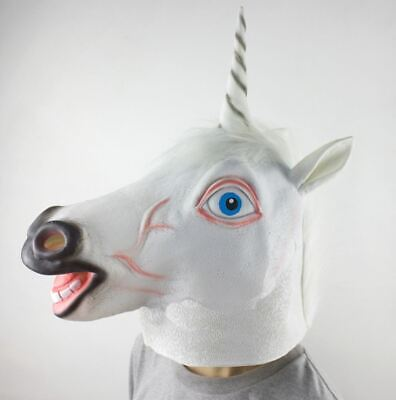 Unicorn Maschera,Animale Testa Costume Lattice Halloween / Facy Abito Feste