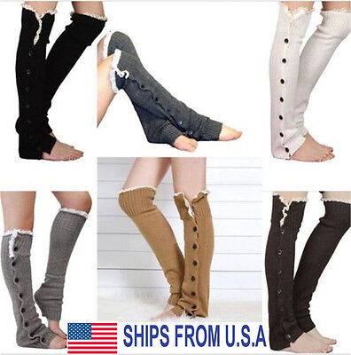 Boot Socks Lace Leg Warmers Crochet Knit Toppers Cuffs Knee High Long Legging Lace Boot Topper