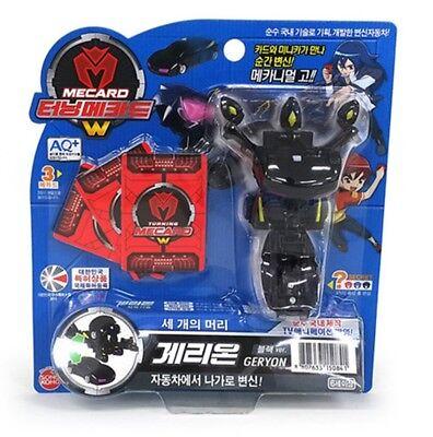 Turning Mecard W Geryon Black Transforming Robot KidsToy Sonokong + Free Gifts