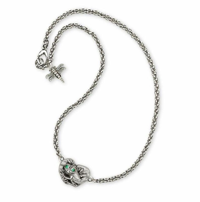 Frog Ankle Bracelet Jewelry Sterling Silver Handmade Frog Ankle Bracelet FG15-XA