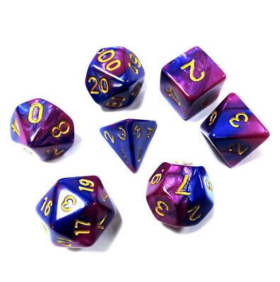7pcs/Set Polyhedral DND RPG MTG Game Dungeons & Dragons Dice D4-D20 Random Color