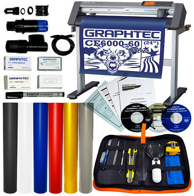 Bundle 24 Graphtec Ce6000-60 Plus Vinyl Cutterplotter Oracal Vinyl Tools