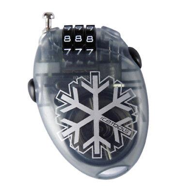 Icetools Mrs Lock Snowboardschloss Zahlenschloss clear black Sicherung Schutz N0