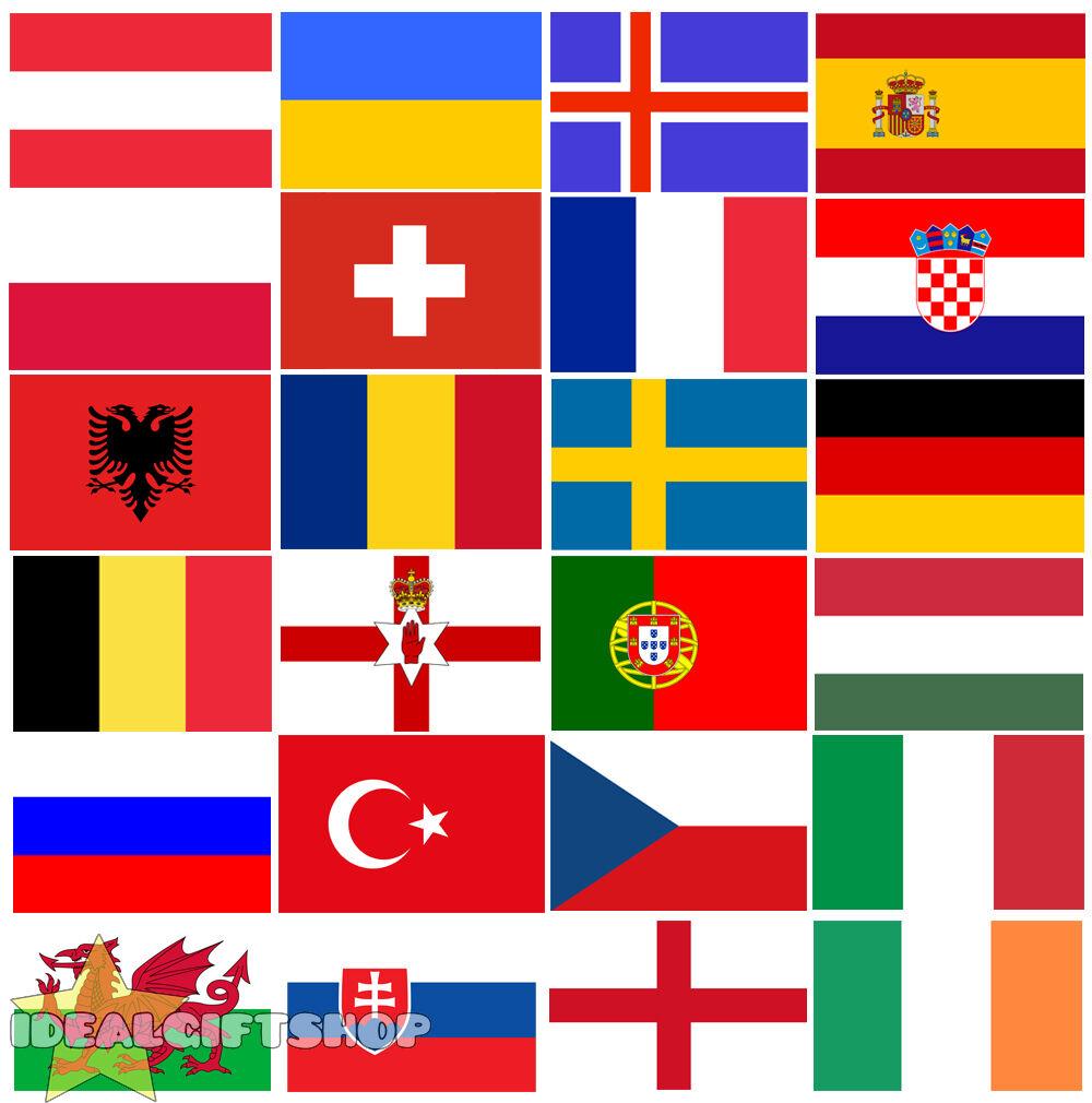 Albania Fútbol Euro 2016 país Empavesado Bandera Grande 33FT Decoración 20 Banderas