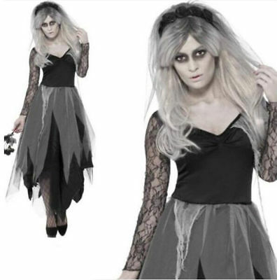 Hot Ladies Halloween Horror Zombie Corpse Bride Dead Scary Fancy Dress - Hot Zombie Costumes
