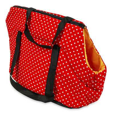 Red Polka Dot Pet Carrier Tote Purse Handbag for Dogs Cats 20 inch Large