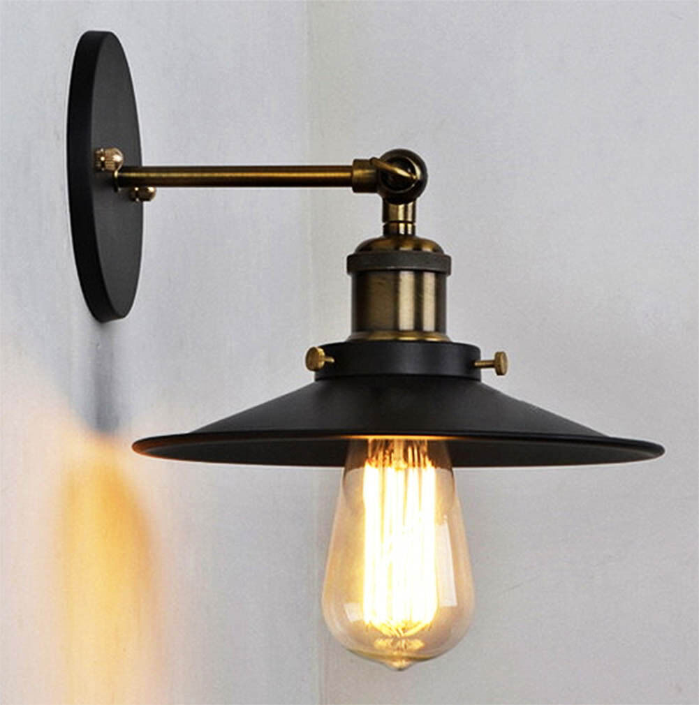 Industrial Wall Light Chrome: Silver Chrome Metal Industrial Vintage Retro Wall Lamp