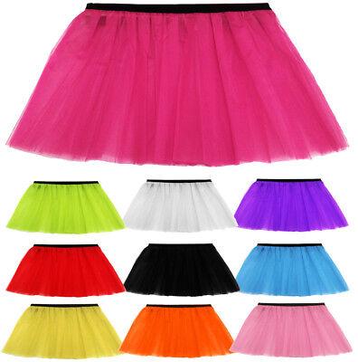 WOMENS LADIES GIRLS HEN ADULT PLUS NEON TUTU SKIRT 10 COLOURS SIZES 6-14 & 16-26 - Adult Plus Size Tutu