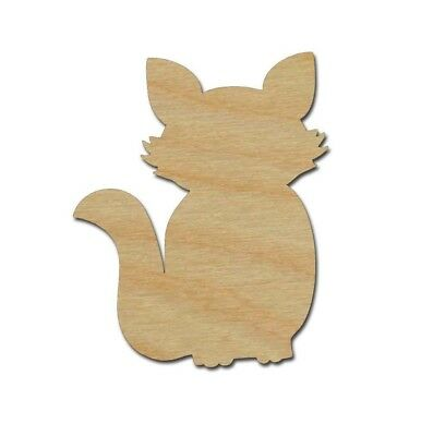 Fox Shape Unfinished Wood Craft Animal Cutouts Variety of Sizes