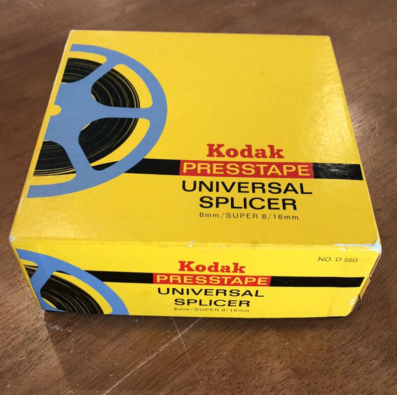 Kodak Presstape Universal Splicer No. D 550, 8 mm/SUPER 8/16 mm, Orig Box
