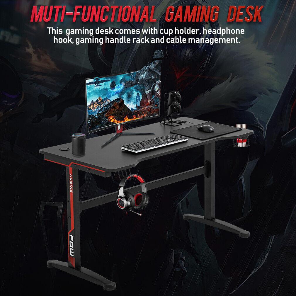 Gaming Desk Computer Desk Home Office Desk Extra Large Modern Ergonomic PC Furniture