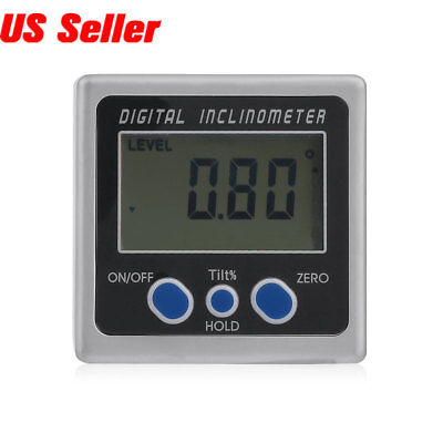 Digital Angle Cube Gauge Inclinometer Magnetic Base Measure Accuracy 0.05 Degree