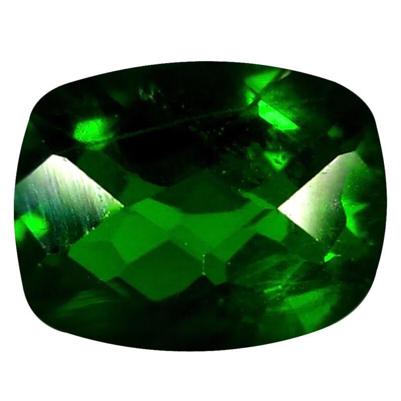 1.35+ct+Wonderful+Cushion+Cut+%288+x+6+mm%29+Russian+Chrome+Diopside+Loose+Gemstone