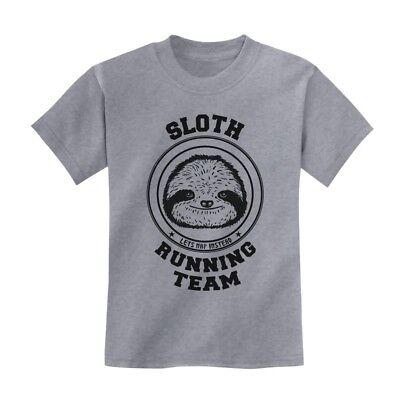 Sloth Running Team Kids T-Shirt Lazy Cute Cool Birthday Gift Idea Youth Crewneck - Cool Birthday Ideas