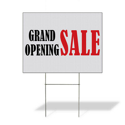 Weatherproof Yard Sign Grand Opening Sale Business D White Lawn Garden