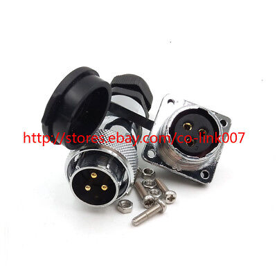 Ws20 3pin Waterproof Connector High Voltage Led Connector Power Cable Adapter