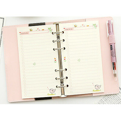 A5a6 Diary Colourful Planner Insert Refill Schedule Notes Organiser 45 Sheets