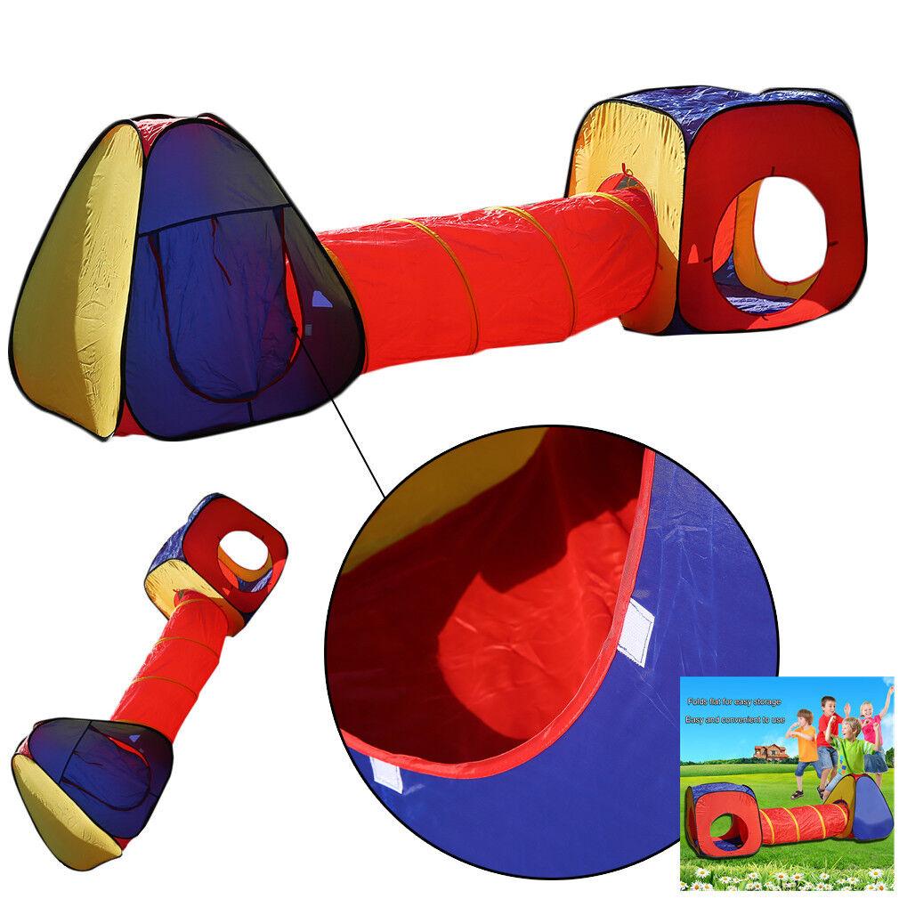 neu kinderzelt mit tunnel spielzelt pop up zelt krabbeltunnel lf ebay. Black Bedroom Furniture Sets. Home Design Ideas