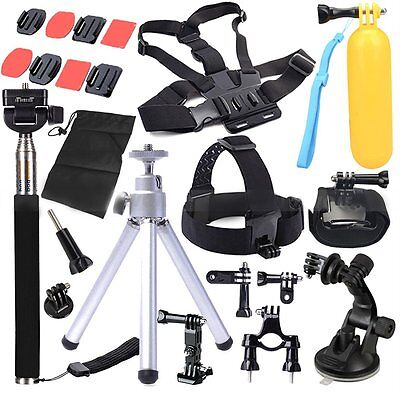 Accessories Set Kit Head Chest Floaty Monopod Combo Mount for Gopro Hero 2 3 (Best New Gopro Accessories)