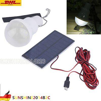 Akku LED Camping Lampe mit Solar-Panel Outdoor Laterne Gartenleuchte Zeltlampe L