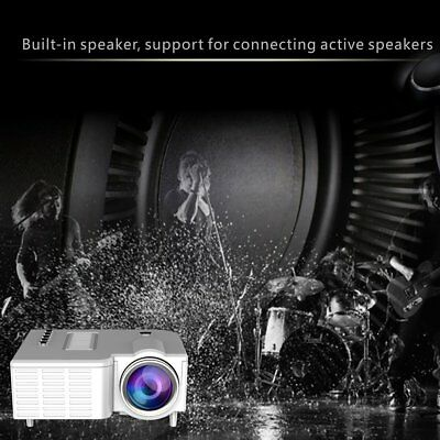 1080P Full HD LED Mini Portable Projector Home Theater Cinema AV VGA HDMI Lot SC