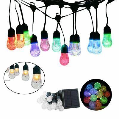 12 Bulbs Solar Lights 7colors changing String Light Garland Garden Outdoor Decor