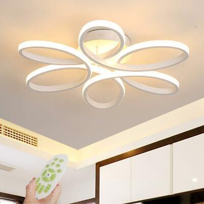 Dimmable Modern Aluminum LED Ceiling Light Flower Lamp Bedroom Fixture Decor Bedroom Ceiling Lamp