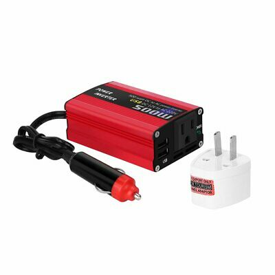500W DC to AC Power Converter DC 12V to 110V 220V AC Car Inverter With Dual USB Dc Power Inverter