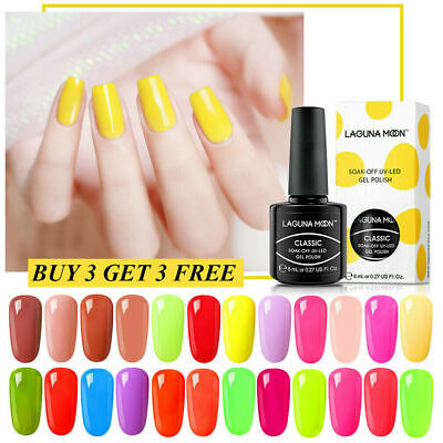 Lagunamoon Classic Color Changing Shiny Gel Nail Polish Mani