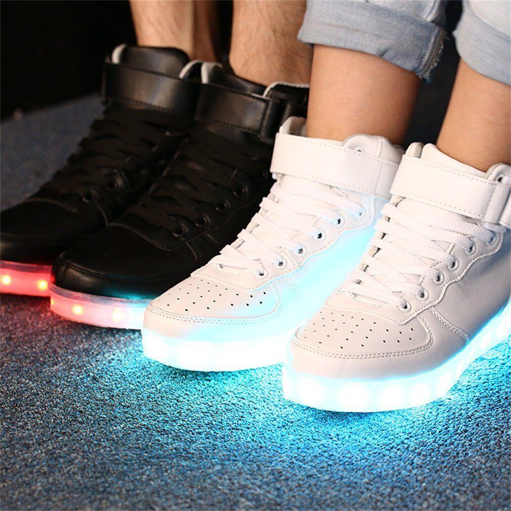 Details zu Unisex LED Schuhe Herren Damen Leuchtend Sneaker Blinkschuhe Farbwechsel CL #Uf9