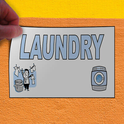 Decal Sticker Laundry Business Laundromat Outdoor Store Sign Light-blue