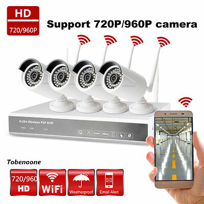 4X 4CH 720P HDMI DVR HD 1500TVL Outdoor IR Home CCTV Security Camera System NVR
