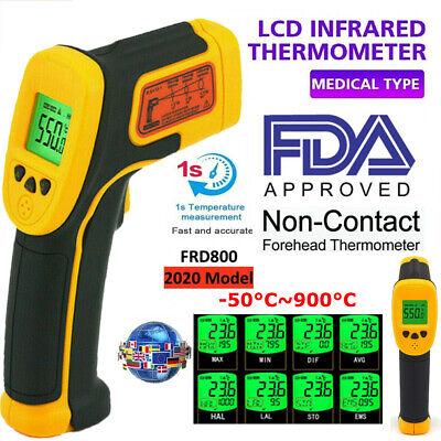 Ir Infrared Gun Thermometer Thermal Heat Digital Sensor Temp Meter Temperature A