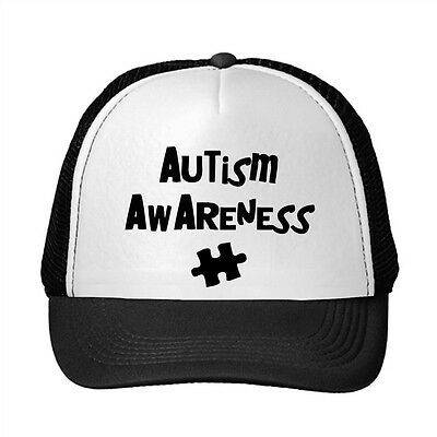 Autism Awareness Adjustable Trucker Hat Cap