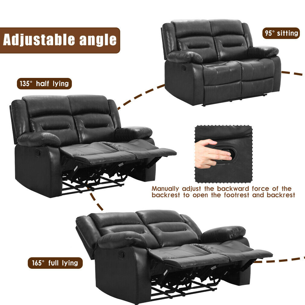 Recliner Sofa Reclining Couch Sofa for Living Room Love Seat Loveseat Home Furniture