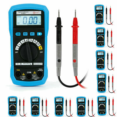 Digital Multimeter Fluke Meter Amp Ohm Voltmeter Tester Ac Dc Current Lot Tn