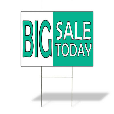 Weatherproof Yard Sign Big Sale Outdoor Advertising Printing B Blue Lawn Garden