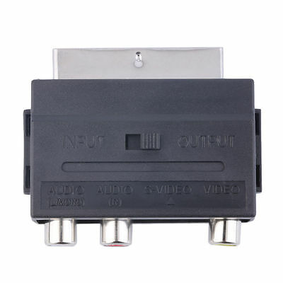 Beliebte RGB Scart zu Composite 3RCA S-Video AV TV Audio Adapter LAJ 1A UE 3 S-video