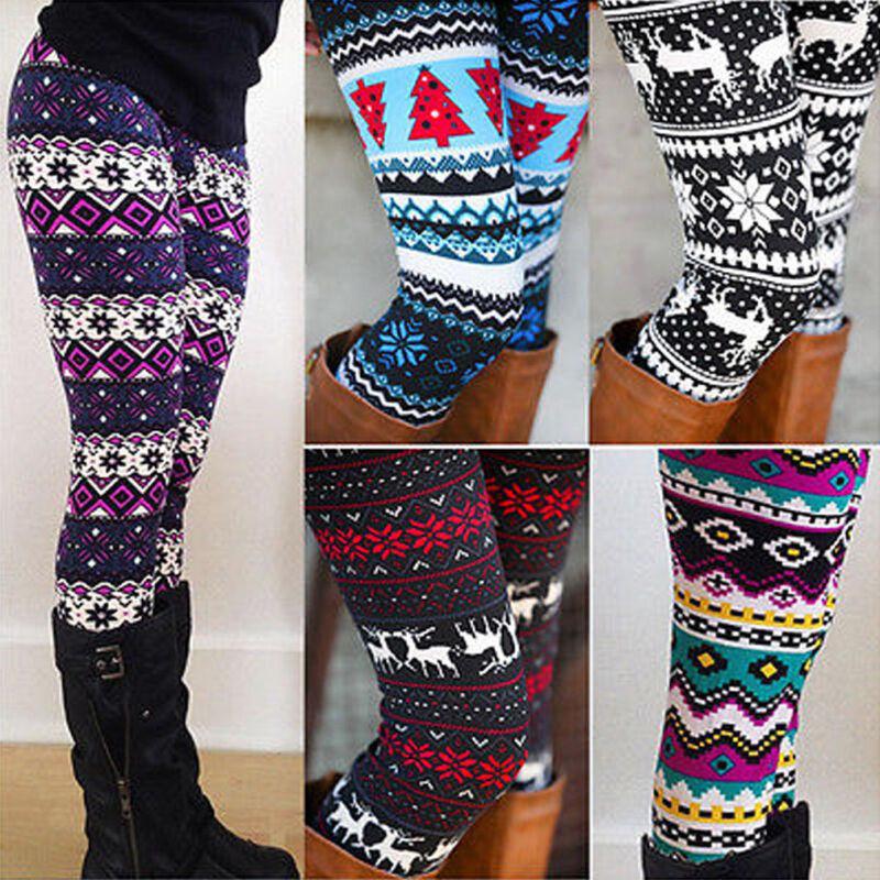 Women Fleece Lined Thick Leggings Winter Soft Warm   Pants T