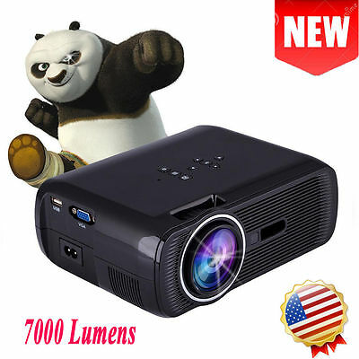 7000 LUMENS HD 1080P HOME CINEMA THEATER MULTIMEDIA LED LCD PROJECTOR HDMI 3D