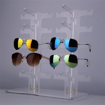 10 Pair 2 Row Sunglasses Eyeglasses Glasses Rack Holder Frame Display Stand Bp