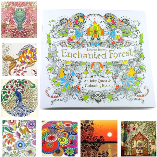 Welcome Enchanted Forest An Inky Quest Colouring Book By Johanna Boasford SH